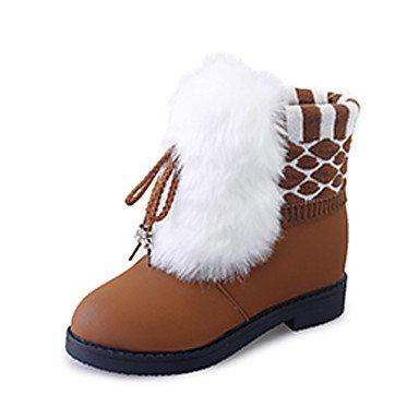 RTRY Scarpe Donna Pu Fall Winter Snow Boots Fashion Stivali Stivali Tacco  Basso Round Toe Stivaletti