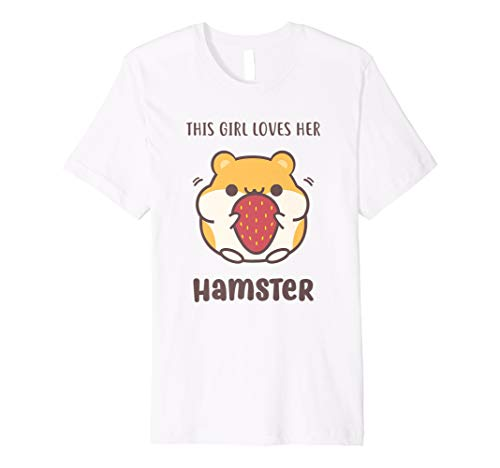 Süßes Hamster T-Shirt für mit Zwerg Hamster & Strawberry (Hamster T-shirt)