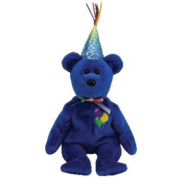 TY Beanie Baby Happy Birthday Bär blau (Happy Birthday Beanie Baby)
