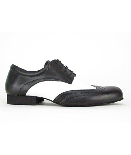 2145 Casco Dos Homens Padrão De Cor Sapato Preto / Sapatos De Dança Brancos Latina Tango De Salão De Dança De Salão
