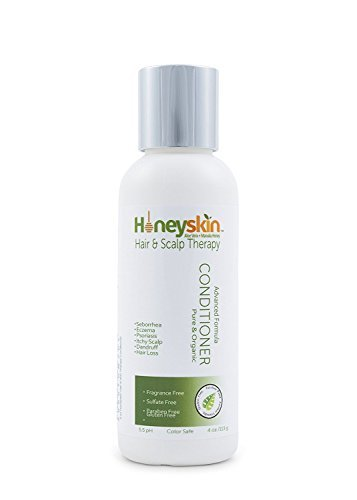 Sexy Moisturizing Conditioner (Honeyskin Organics Gentle Moisturizing Deep Conditioner With Manuka Honey + Aloe Vera For Scalp Psoriasis, Eczema And Dermatitis (4 oz) Organics)