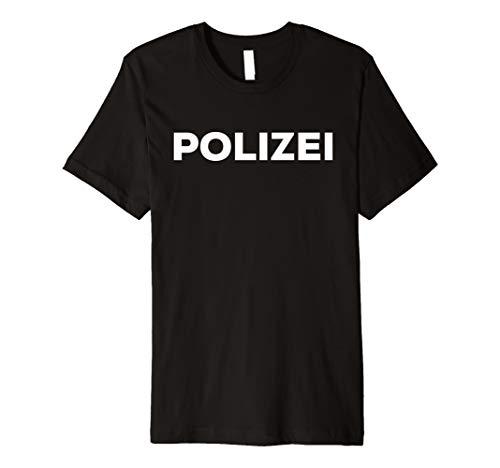 Polizei T-Shirt vorne hinten - Polizeiuniform