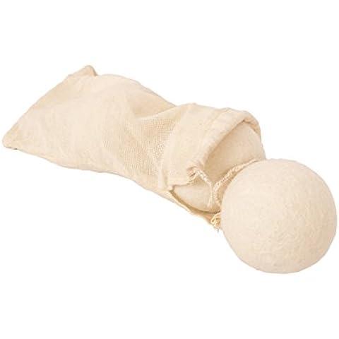 Secador de lana Bolas 3unidades XXL hecha a mano con 100% orgánico lana con bolsa de transporte