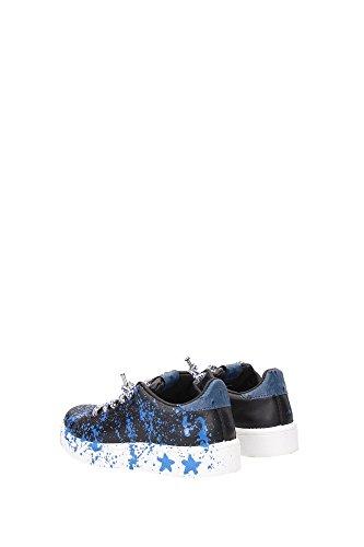 2SB520NEROAZZURRO 2Star Sneakers Garçon Cuir Noir Noir
