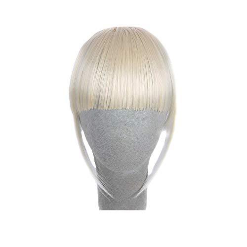 ODJOY-FAN 15cm Qi Liu Hai Perücke Blatt Clip Im Vorderseite Haar Knall Franse Haar Erweiterung Stück Front Hair Fringe Hair Extension Piece(E,1 PC)
