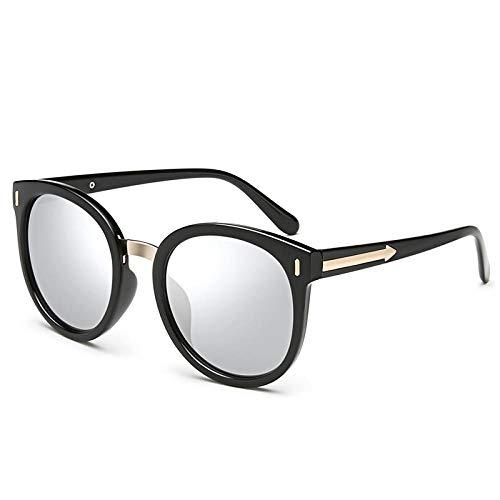 RW Sonnenbrille weibliche Flut 2018 koreanischen Stern mit dem gleichen Absatz Mode Big Box Sonnenbrille Retro Polarisator rundes Gesicht Persönlichkeit Brille