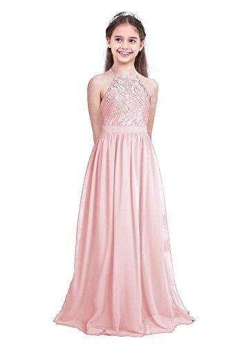 iixpin Kinder Mädchen Neckholder Prinzessin Kleider Festlich Kleid Hochzeit Festkleid Kostüm...