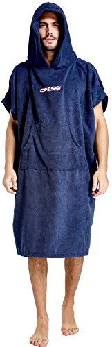 Cressi Poncho Robe Albornoz/Toalla, Hombres, Azul Navy, S/M (67x105 cm)
