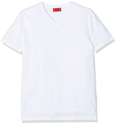 HUGO Herren T-Shirt v Weiß (White 100)