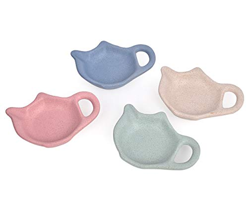 SCSpecial Bolso de té en forma de tetera Conjunto de 4 Sazonador de bolsitas de té para salsa de postre