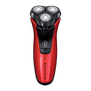 Remington Manchester United Power Series Cordless Wet and Dry Electric Shaver Including Face/Hand Towel, Black and Red