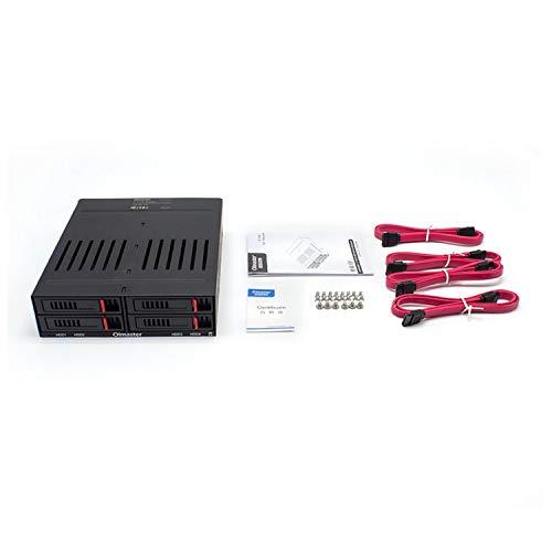 Preisvergleich Produktbild guoxuEE OImaster HE-2006 Vier 2, 5-Zoll-Steckplätze SATA-Gehäuse für interne Rack-Festplatten schwarz
