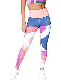 Leggins de Deporte Mujer, Felz Pantalones Estampado geométrico Mujer Pantalones Casuales Leggings para Training Running Yoga Fitness Sportswear