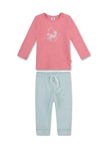 Sanetta Baby-Mädchen Zweiteiliger Schlafanzug 221346, Rot (Sharon 3419), 98 (Roter Mädchen Schlafanzug)