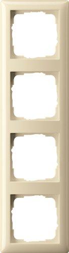 Gira 021401 Abdeckrahmen 4 fach Standard 55, cremeweiß