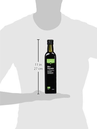 Hochwertiges Hanföl 500ml - kalt gepresst - 100 Prozent Bio - Optimales Omega-3 und Omega-6 Verhältnis - 5
