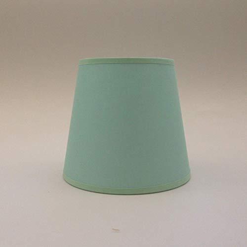 Light Green Kleine Kerze Clip auf Lampenschirm Deckenleuchte Kronleuchter Wandleuchte Lampe Lampenschirm handgefertigt Baumwolle Stoff