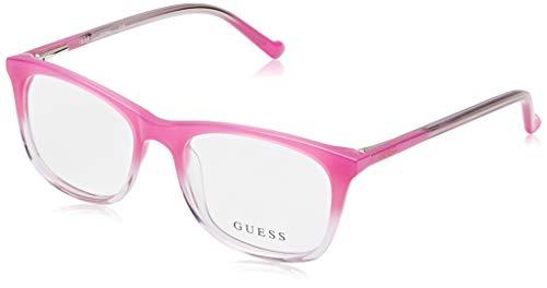 Guess Unisex-Erwachsene GU9164 072 47 Brillengestelle, Pink (Rosa Luc) - Brille Frames Guess
