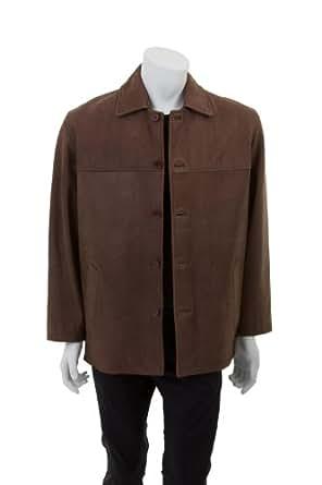 Hommes Chic Veste en cuir - Zavier / brun