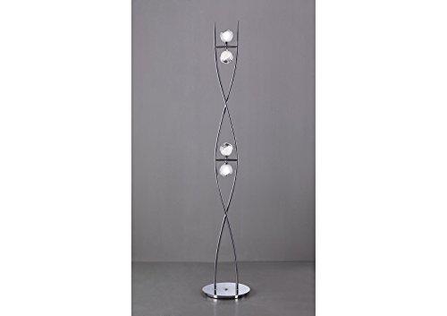 Lampada a stelo design bali cromo l u lampadina g osram u mantra