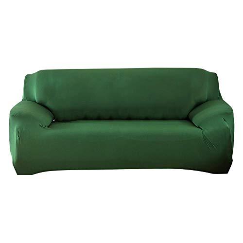 AOLVO Copridivani Elasticizzati Copridivano Universale in Tessuto Moda per Casa Decorativa 3 Posti Verde Scuro