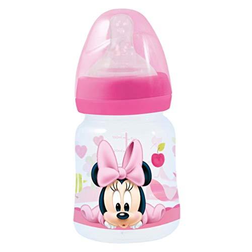 Stor st-39901Weithals-Trinklernflasche 150ml Sauger Silikon 3Positionen, Minnie Mouse
