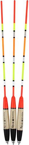 noorsk® Posenset 3 Stück vorgebleite Laufposen 4+2 g schwarz/beige/rot Set