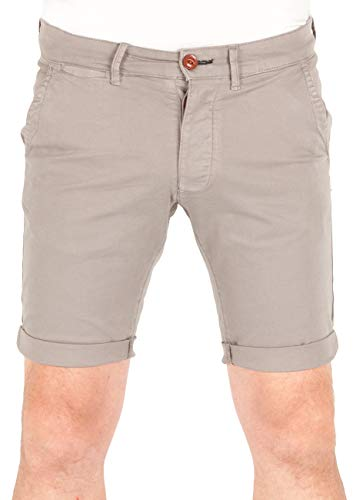 JACK & JONES Herren Jeans Short JJIDEAN Chino Shorts AKM - Black Iris - Steel Gray - White Pepper, Größe:M, Farbe:Steel Gray (12165454) Pepper Las Vegas