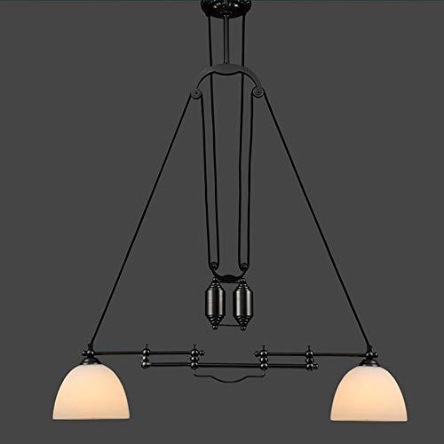 Loft Vintage Industrial Wind Lift Rom Single Ausziehbare Leiter Creative Kronleuchter Restaurant Bar Bar Kronleuchter Beleuchtung Dekorative Leuchten (Größe: 2-Kopf)