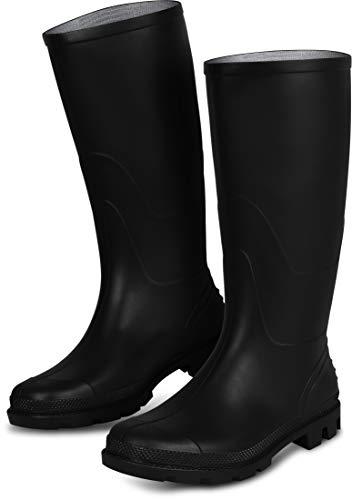 Anglerstiefel Farmer Stiefel Gummistiefel mit Textilfutter innen, grobes Profil [Größe 37 - 48], Größe:44