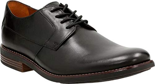 Clarks Becken Plain, Scarpe Stringate Derby Uomo, Nero (Black Leather-), 42.5 EU