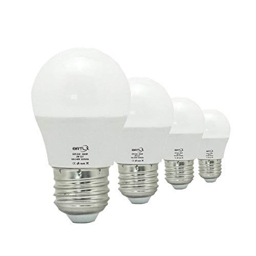 BRTLX E27 LED Glühbirne 5W G45 Kaltweiss 6000K 45W Leuchtmittel Entspricht 220° Abstrahlwinkel 400 Lumen Nicht Dimmbar 4er Pack