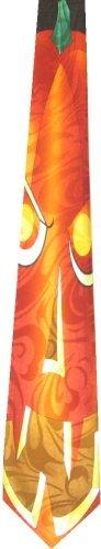 Three Rooker Große Halloween-Krawatte mit Kürbismotiv