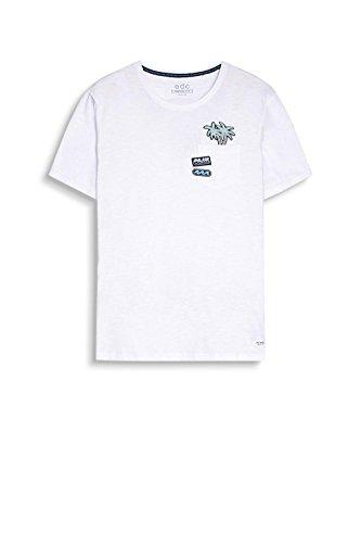 edc by ESPRIT Herren T-Shirt Weiß (White 100)