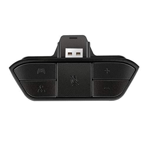 Noradtjcca Schwarz Stereo Headset Adapter Headset Audio Adapter kopfhörer konverter für Microsoft Xbox one Wireless Game Controller Microsoft Volume Control