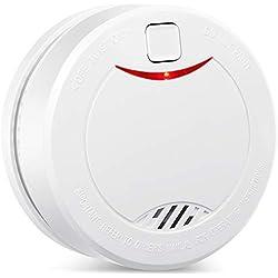 Alarma de Humo Independiente de 10 años con batería HEIMAN, VDS, BOSEC, EN14604, Detector de Humo con certificación CE, Sensor fotoeléctrico con Modo de Silencio y botón de Prueba Alarm-626PHS (1)
