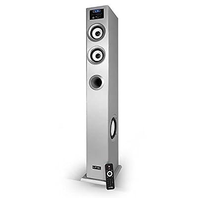 Colonne multimédia amplifiée silver - tuner FM/USB/SD/BLUETOOTH 100W - LTC CENTER-100 de LTC