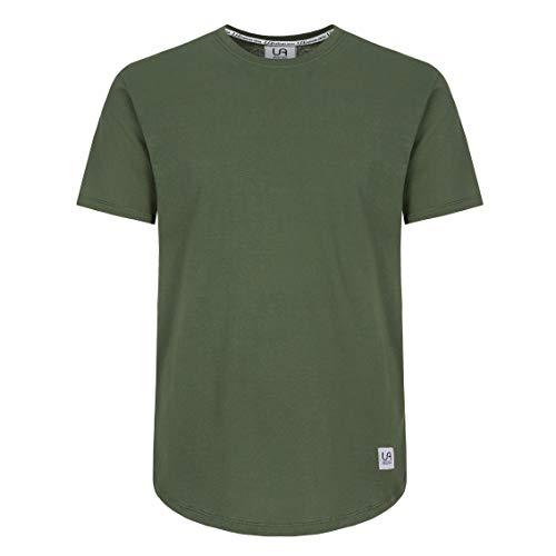 urban ace | Basic T-Shirt | Herren | regular fit | runder Saum ,Olive,M