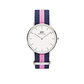 Daniel Wellington – Reloj analógico para mujer de nailon multicolor