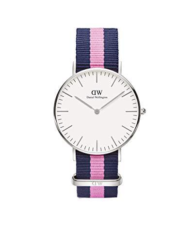 Daniel Wellington - Reloj analógico para mujer de nailon multicolor