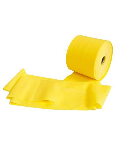 FTM Thera-Band® Gelb Übungsband und Fitnessband LATEXFREI von der Rolle geschnitten, Meterware, Gymnastikbänder für Reha, Physiotherapie, Krankengymnastik für Allergiker (3 Meter)