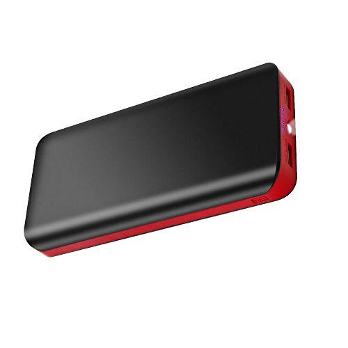Powerbank 25000mAh 2 USB Ports Externer Akku mit LED-Statusanzeige Extrem hohe Kapazitat Power Bank Ladegerät für iPhone X / 8 /7 Plus iPad Samung Huawei Tablet Kamerasund andere Smartphone