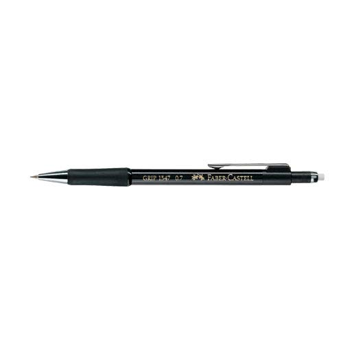 Faber-Castell 134799 - Druckbleistift GRIP, Minenstärke: 0,7 mm, Schaftfarbe: schwarz-metallic -