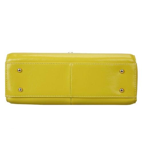 E-Girl Q0438 donna Borse a spalla,Borse a tracolla30x21x12 cm (B x H x T) Green