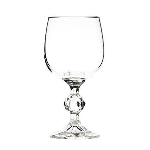 Bohemia Crystal, Claudia-Rotweingläser, böhmische Kelche, 230 ml, 6 Stück Cut Crystal Goblet