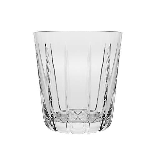 Barski - Set von 6 - mundgeblasen - handgeschliffene - Kristallgläser - DOF - Double Old Fashioned - Whiskey Tumblers - Jedes Glas ist 340 ml - Becher ist einzigartig gestaltet - Made in Europe Cut Glas Whiskey