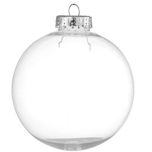Youseexmas - confezione da 12 palle di natale in vetro, Ø 6 cm