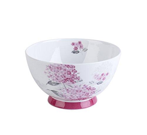 Portobello Fine Bone China Amy Schale mit Fuß, Glas, Pink