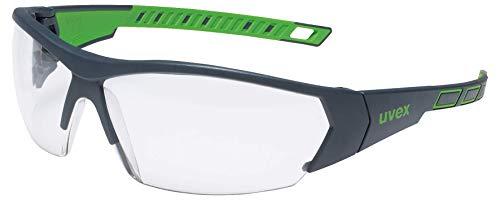 Gafas de seguridad uvex i-works - EN 166 170 - Antivaho y resistente a arañazos y químicos - Transparente / Verde