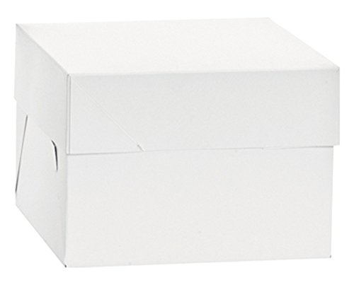Caja para tarta de pisos de 25cm de altura.De cartón. Con cómoda tapa. Son ideales para transportar y guardar tartas de pisos. Están empaquetadas individualmente para una mayor higiene.
